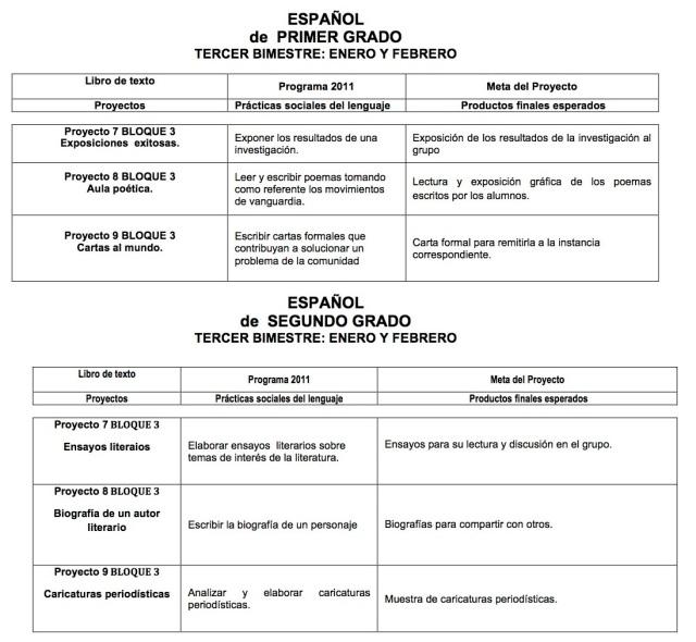 X-ESPAÑOL de  PRIMER GRADO