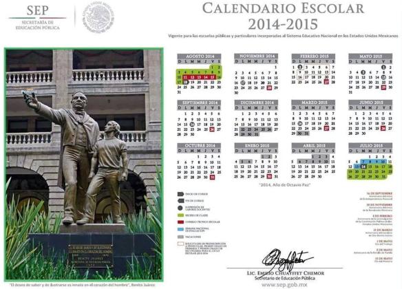 Calendario 2014 - 2015
