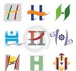 set-icons-logo-elements-letter-h-20111702