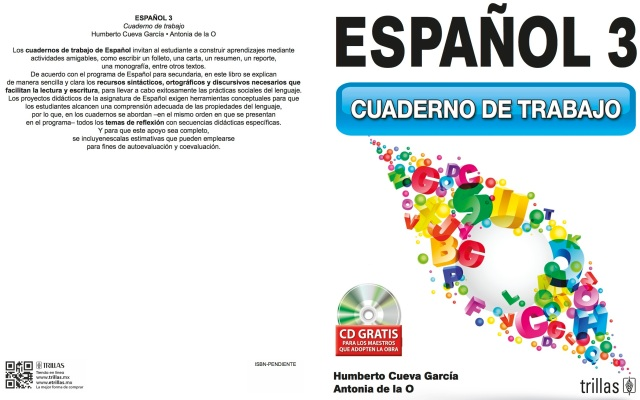 PORTADA Español 3 Cuaderno de trabajo