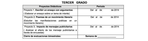 3ºCALENDARIZACIÓN DE   BLOQUES  I  DE ESPAÑOL