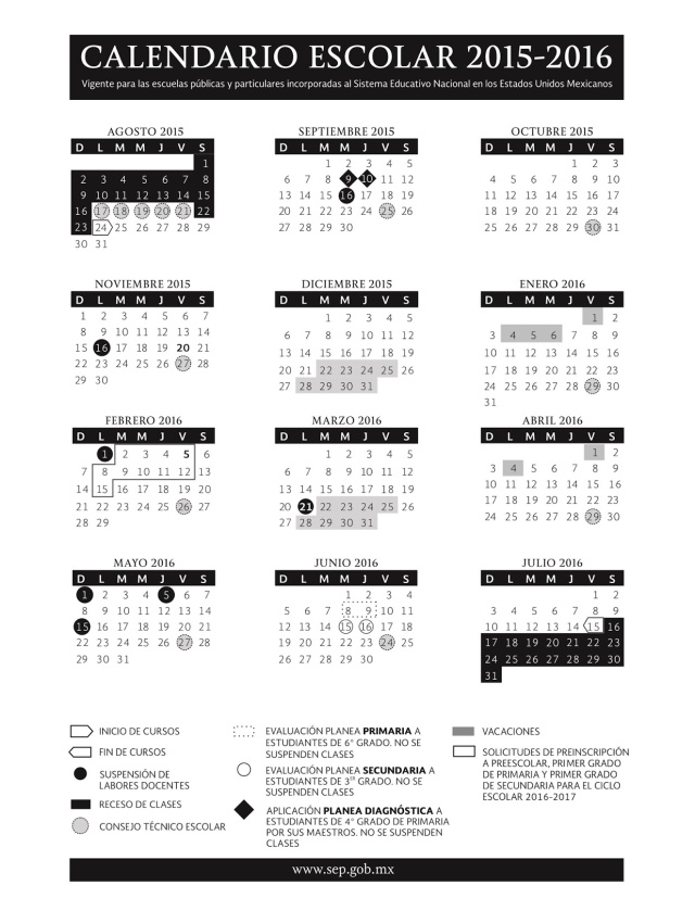 Calendario 2015 - 2016