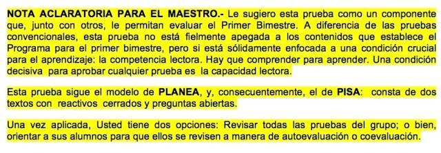 *NOTA ACLARATORIA PARA EL MAESTRO