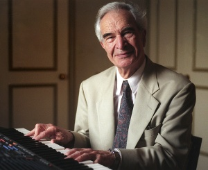 Jazz musician and composer Dave Brubeck is pictured in a 1996 photo. The Catholic musician died of heart failure Dec. 5 in Norwalk, Conn., after being stricken while on his way to a cardiology appointment. He would have turned 92 the following day. ( CNS photo/Bob Roller) (Dec. 5, 2012) See OBIT-BRUBECK to come.